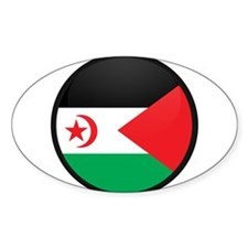Western Sahara Oval Decal