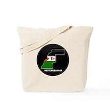 Flag Map of Western Sahara Tote Bag