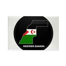 Flag Map of Western Sahara Rectangle Magnet