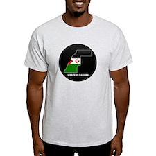 Flag Map of Western Sahara T-Shirt
