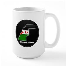 Flag Map of Western Sahara Mug