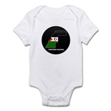 Flag Map of Western Sahara Infant Bodysuit