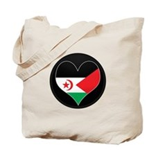 I love Western Sahara Flag Tote Bag