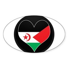 I love Western Sahara Flag Oval Decal