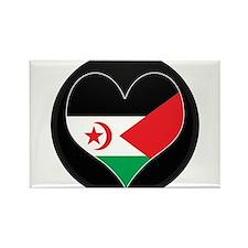 I love Western Sahara Flag Rectangle Magnet