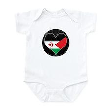 I love Western Sahara Flag Infant Bodysuit