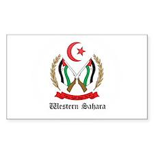 Sahrawi Coat of Arms Seal Rectangle Decal