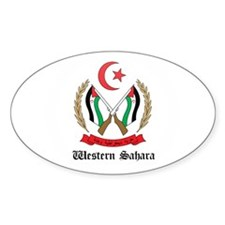 Sahrawi Coat of Arms Seal Oval Decal