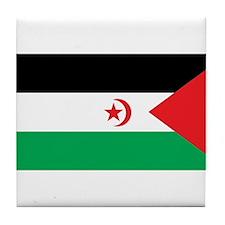 Western Sahara Flag Tile Coaster