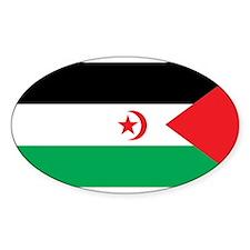 Western Sahara Flag Oval Decal