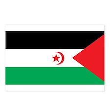 Western Sahara Flag Postcards (Package of 8)