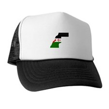 Western Sahara Flag Map Trucker Hat