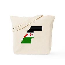 Western Sahara Flag Map Tote Bag
