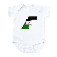 Western Sahara Flag Map Infant Bodysuit