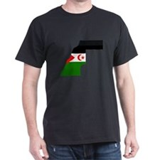 Western Sahara Flag Map T-Shirt
