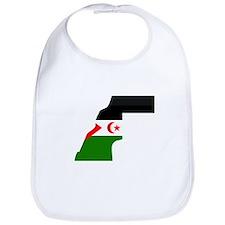Western Sahara Flag Map Bib