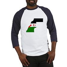 Western Sahara Flag Map Baseball Jersey