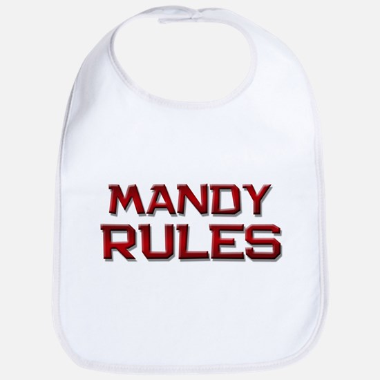 mandy rules Bib