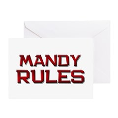 mandy rules Greeting Card
