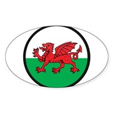 Welsh Island Oval Decal