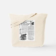 Burlingame Telegraphing Typewriter Tote Bag