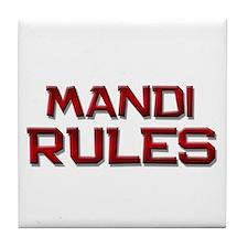 mandi rules Tile Coaster