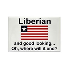 Good Looking Liberian Rectangle Magnet