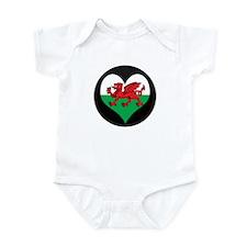 I love Welsh Island Flag Infant Bodysuit