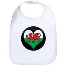 I love Welsh Island Flag Bib