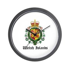 Welsh Coat of Arms Seal Wall Clock