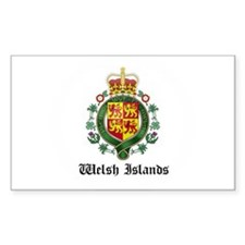 Welsh Coat of Arms Seal Rectangle Decal