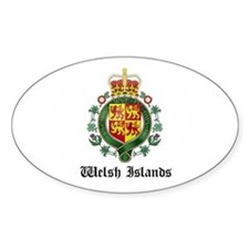 Welsh Coat of Arms Seal Oval Decal