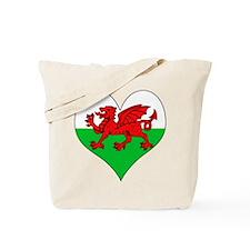 I Love Welsh Island Tote Bag