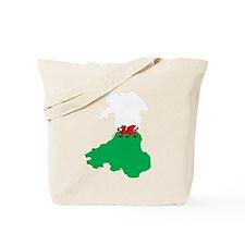 Welsh Island Flag Map Tote Bag