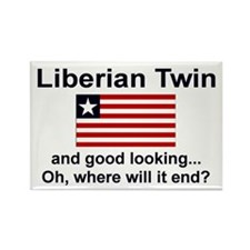 Good Looking Liberian Twins Rectangle Magnet