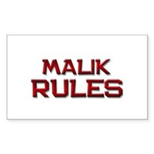 malik rules Rectangle Decal
