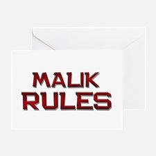 malik rules Greeting Card