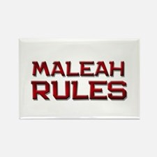 maleah rules Rectangle Magnet