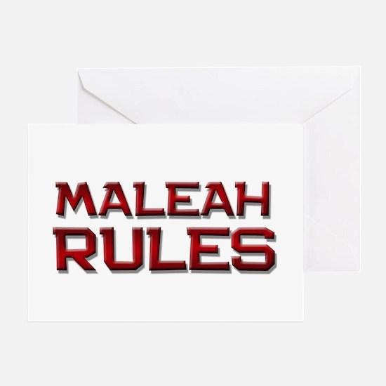 maleah rules Greeting Card