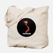Flag Map of Vietnam Tote Bag