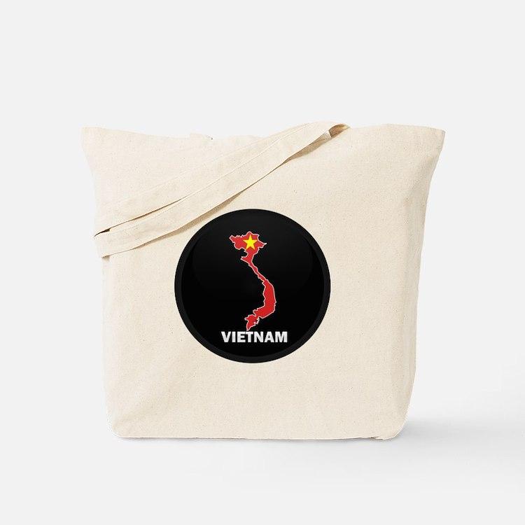 Flag Map of Vietnam Tote Bag
