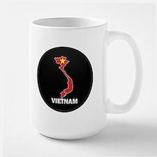 Flag Map of Vietnam Large Mug