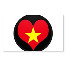 I love Vietnam Flag Rectangle Decal