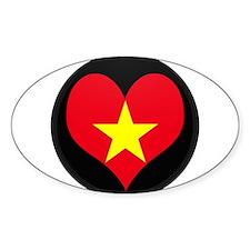I love Vietnam Flag Oval Decal