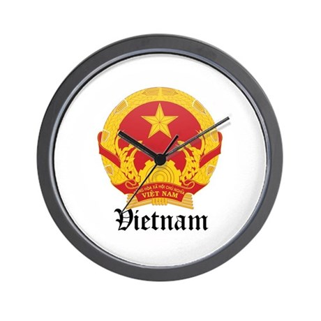 Vietnamese Coat of Arms Seal Wall Clock