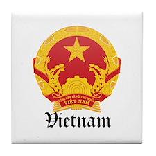 Vietnamese Coat of Arms Seal Tile Coaster
