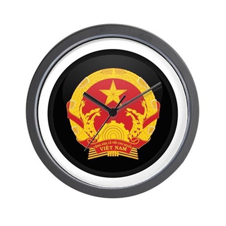 Coat of Arms of Vietnam Wall Clock