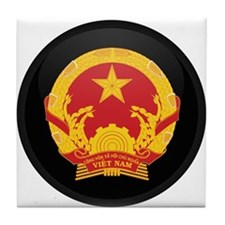 Coat of Arms of Vietnam Tile Coaster