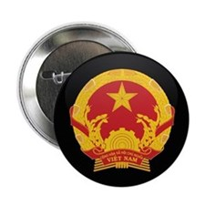 """Coat of Arms of Vietnam 2.25"""" Button"""