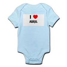 I LOVE ABRIL Infant Creeper